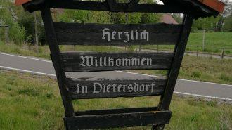Dietersdorf Ortseingangsschild